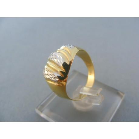 Dámsky prsteň s výčnelkami žlté biele zlato