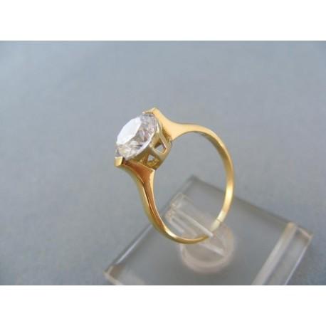 Dámsky prsteň žlté zlato ozdobený kamienkom