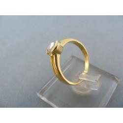 Zlatý prsteň dámsky žlté zlato kamienok DP49265Z