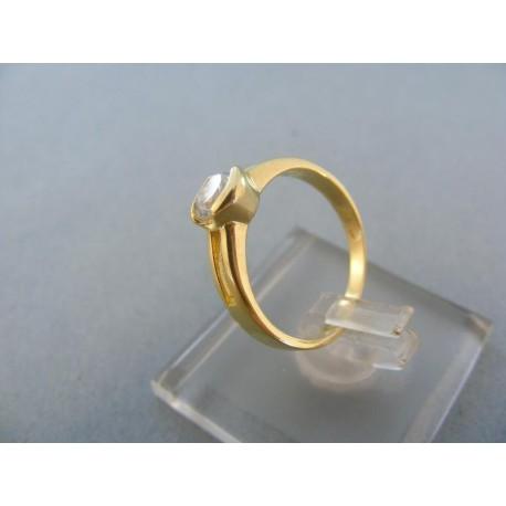 Prsteň dámsky žlté zlato kamienok