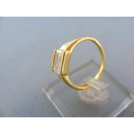 Prsteň žlté zlato dámsky kamienok zirkónu