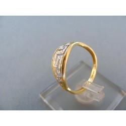 Zlatý dámsky prsteň dvojfarebné zlato vzorovaný DP54146V