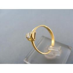 Zlatý dámsky prsteň jednoduchý zirkón žlté zlato DP55165Z