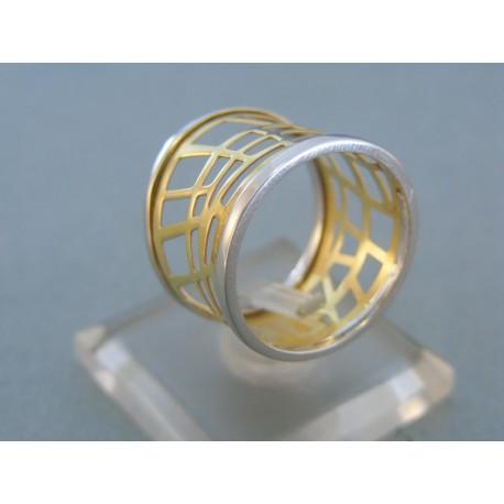Okúzľujuci dámsky prsteň v žltom a bielom zlate
