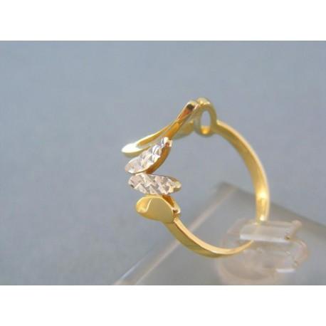 Prsteň členitý žlté biele zlato