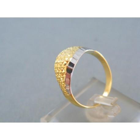 Krásny dámsky prsteň dvojfarebné zlato