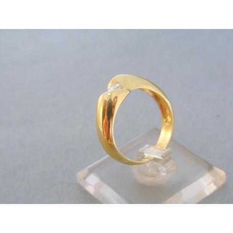 Dámsky prsteň žlté zlato jeden zirkón