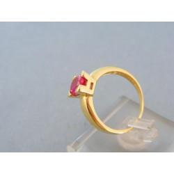 Zlatý dámsky prsteň farebný zirkón v korunke žlté zlato DP55347Z