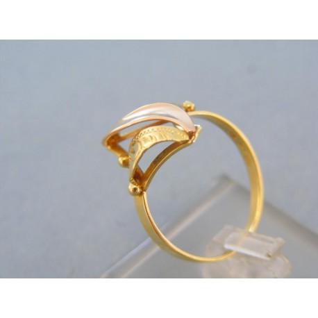 Dámsky prsteň žlté červené zlato vzorovaný