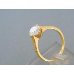 Zlatý prsteň žlté zlato okrúhly zirkón DP57421Z