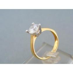 Zlatý dámsky prsteň jemný dvojfarebné zlato zirkón DP56355V
