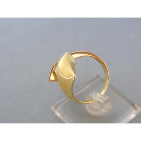 Moderný dámsky prsteň dvojfarebné zlato zirkón