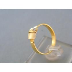 Zlatý dámsky prsteň žlté biele zlato kamienok DP58229V