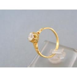Zlatý prsteň so zirkónom  v korunke žlté zlato DP59240Z