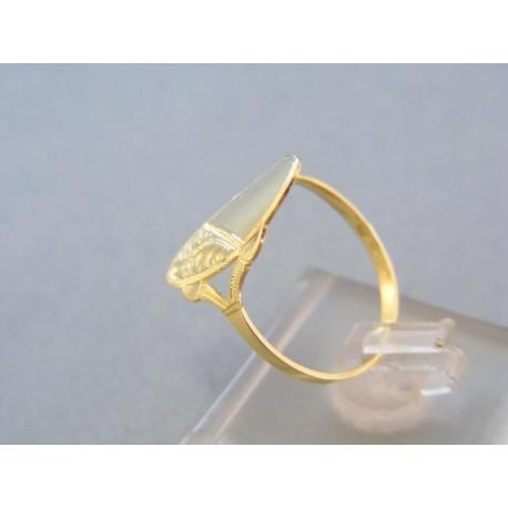 Zlatý prsteň dámsky vzorovaný žlté zlato