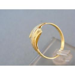 Zlatý prsteň žlté biele zlato vzorovaný DP60186V