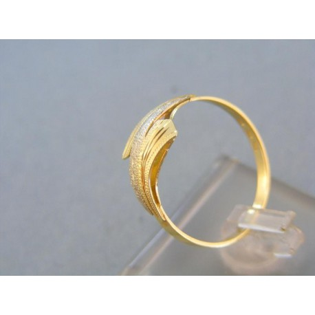 Prsteň žlté biele zlato vzorovaný