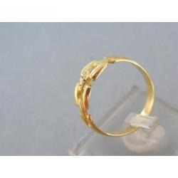 Zlatý prsteň žlté zlato dva kamienky DP58289Z