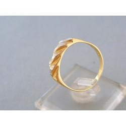 Zlatý prsteň žlté biele zlato výčnelky