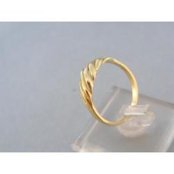 Zaujímavy zlatý prsteň žlté zlato