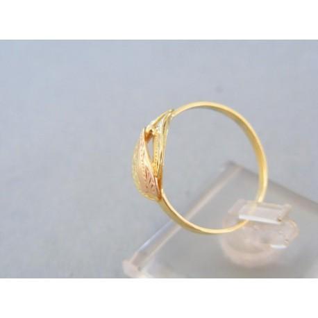 Dámsky zlatý prsteň žlté červené zlato malá gulička